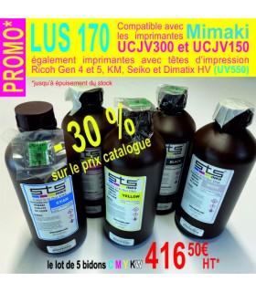 LOT DE 5 BIDONS LUS 170 UV 550