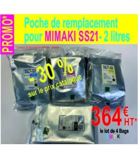 PROMO 4 BAGS 2 L pour MIMAKI SS21